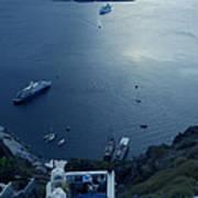 Fira Town View Santorini Poster