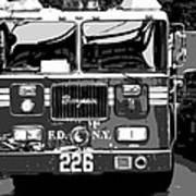 Fire Truck Bw6 Poster