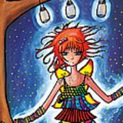 Firefly Girl Poster by Jen Kiddo