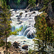 Firehole River Falls Poster