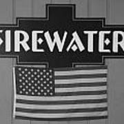 Firewater In Black And White Poster