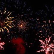 Fireworks At Oshkosh Airventure 2012. 01 Poster