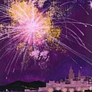 Fireworks In Malta Poster