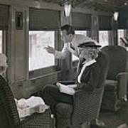 First Class Passengers In An Poster