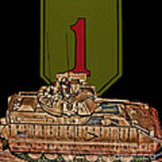 First Infantry Division Bradley Fighting Vehicle Poster