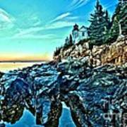 First Light At Bass Harbor Poster