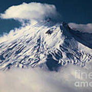 First Snow At Mt St Helens Poster