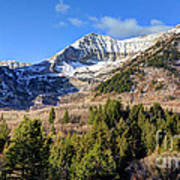 First Snow On Mt. Timpanogos - Utah Poster