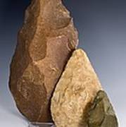First Tools, Three North African Handaxes Poster