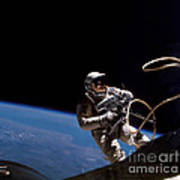 First U.s. Spacewalk Poster