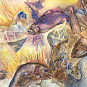 Fish Abstract Poster