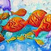 Fish Abstract Painting Poster