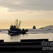 Fisherman Home Returning To Port From The Inside Passage Vancouver Bc Canada Poster by Andy Smy