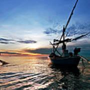 Fisherman Life Huahin Thailand Poster by Arthit Somsakul