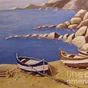 Fisherman's Boats Poster by Debra Piro