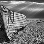 Fishing Boat Graveyard 2 Poster by Meirion Matthias