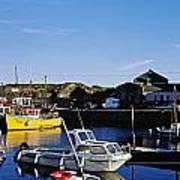 Fishing Boats At A Harbor, Slade Poster