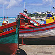 Fishing Boats At Arniston Poster