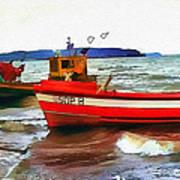 Fishing Boats Poster