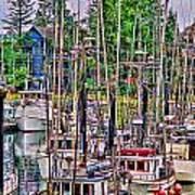 Fishing Docks Hdr Poster