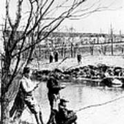 Fishing In The Bronx River,  New York Poster
