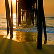 Fishing Pier And Surf II Poster