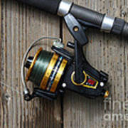 Fishing Rod And Reel . 7d13542 Poster by Wingsdomain Art and Photography