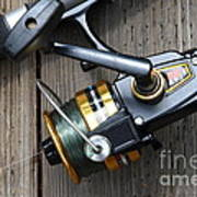 Fishing Rod And Reel . 7d13565 Poster by Wingsdomain Art and Photography