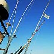 Fishing Rods Poster by Sami Sarkis