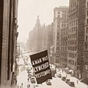 Flag Announcing Another Lynching. A Man Poster by Everett