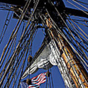 Flag In The Rigging Poster