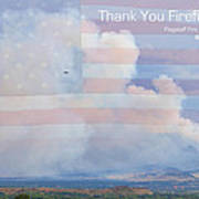 Flagstaff Fire  Thank You Firefighters Poster