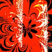 Flaming Flower Poster