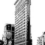 Flatiron Building Bw3 Poster