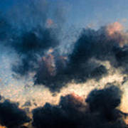 Fleecy Sunset Clouds  1208 Poster