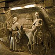 Flight Into Egypt - Wieliczka Salt Mine Poster