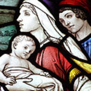 Flight To Egypt Stained Glass Poster