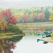 Float Plane On Pond Near Golden Road Maine Photo Poster Print Poster