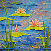 Floating Lilies Poster