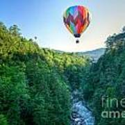 Floating Over Quechee Gorge Poster