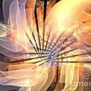 Floral Supernova Poster