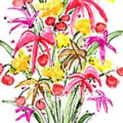 Floral Twelve Poster
