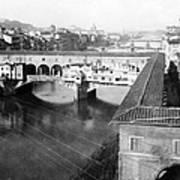 Florence Italy - Vecchio Bridge And River Arno Poster