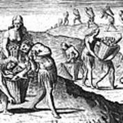 Florida: Storing Food, 1591 Poster