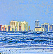 Florida Turbulence Poster by Deborah Benoit