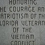 Florida Vietnam War Memorial Poster