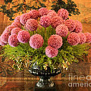 Flower Arrangement Chateau Chenonceau Poster