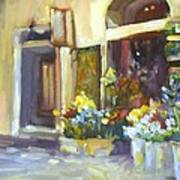 Flower Shop In Italy Poster