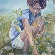 Flowers For Her Hair Poster by Dorothy Herron