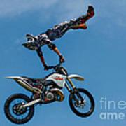 Flying High Motorcyle Tricks Poster